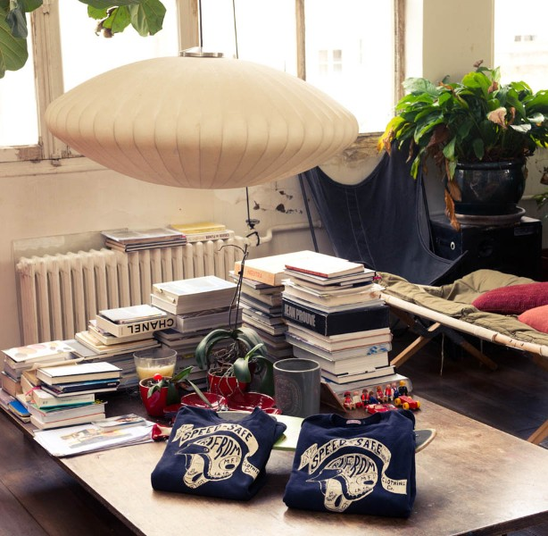 Take a look at the interior of French designer Isabel Marant .