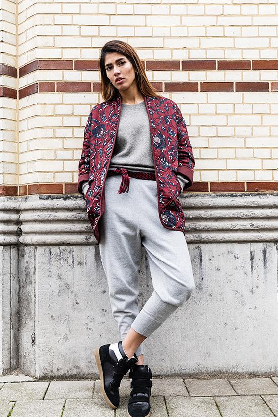 Isabel Marant Daca jacket burgundy