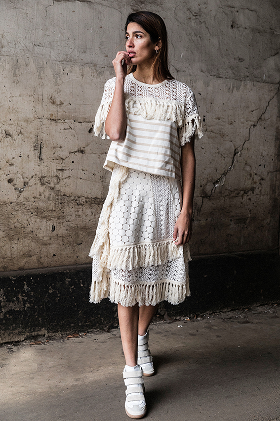 See by Chloe All White outfit