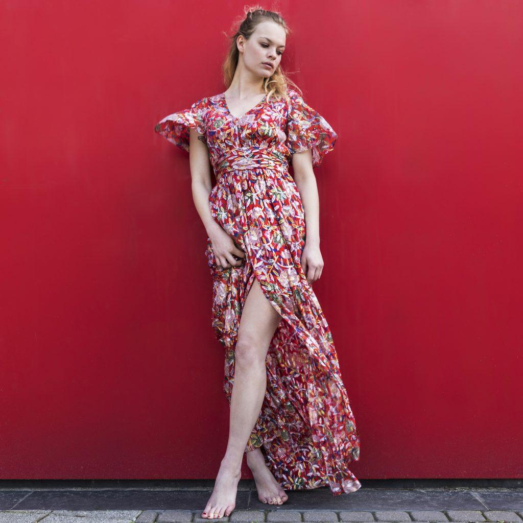 Ba&sh Jessy dress red