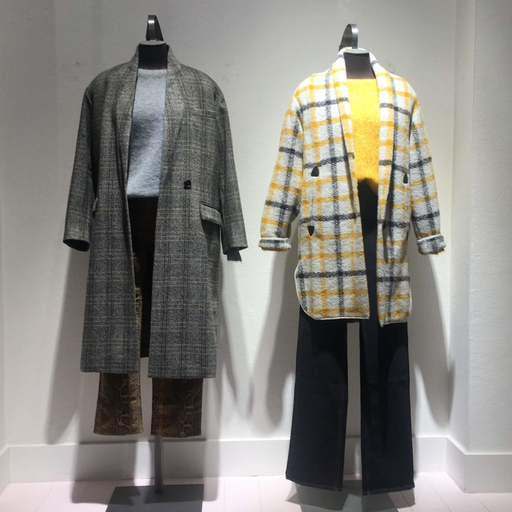 isabel marant henley coat and gabrie coat