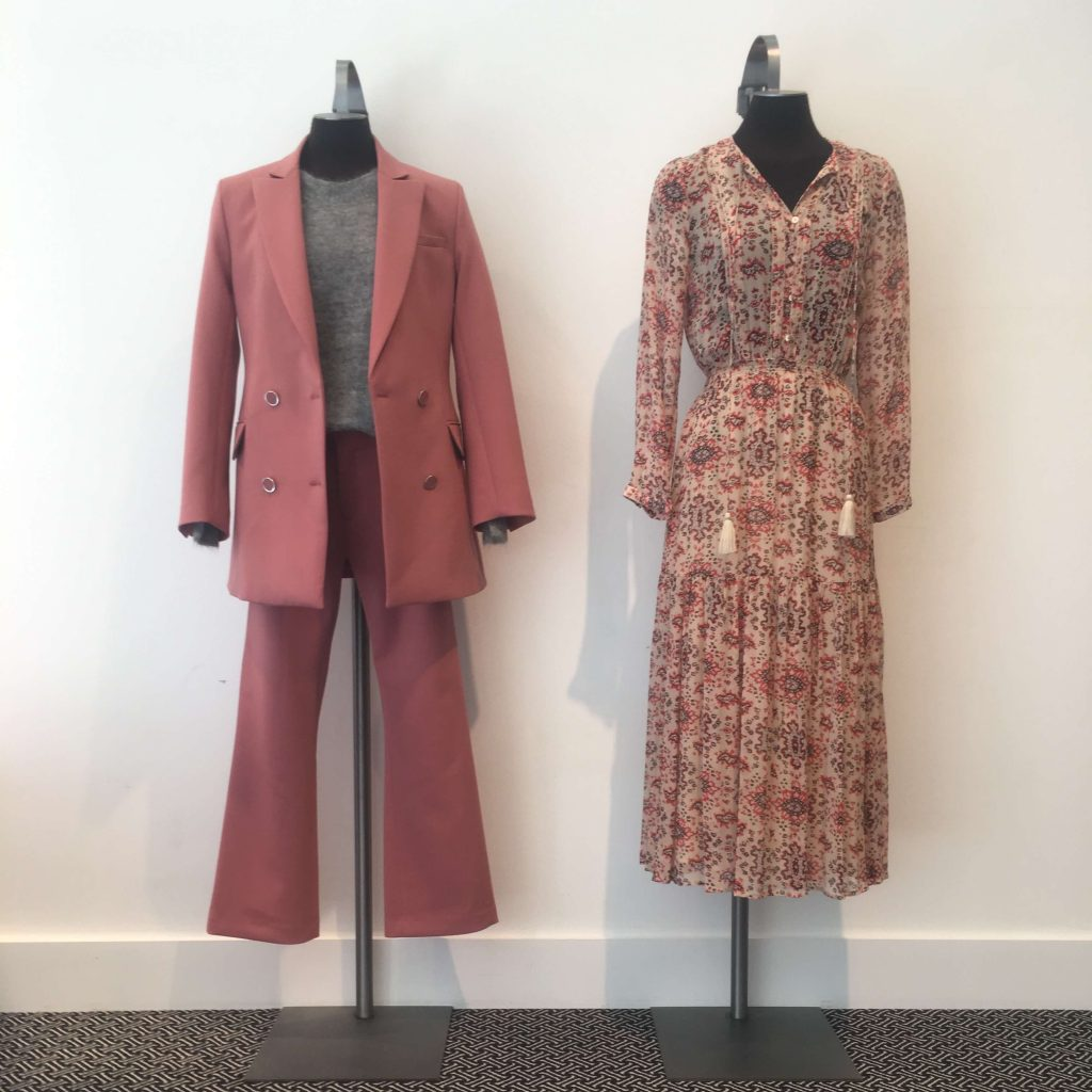 rodebjer suit and vanessa bruno flower dress