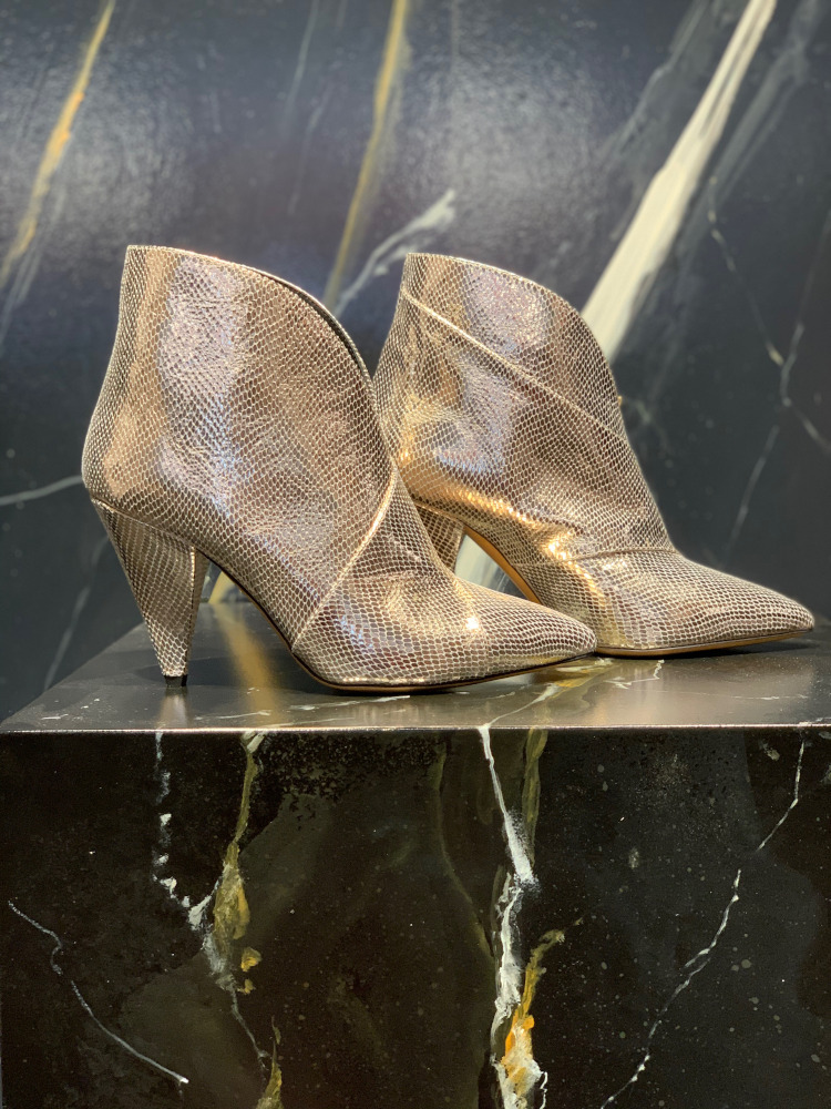 Isabel Marant Archenn ankle boots gold