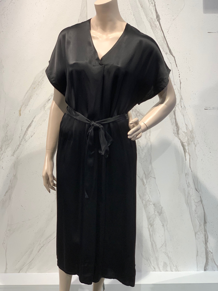 One and Other Kaftan dress black